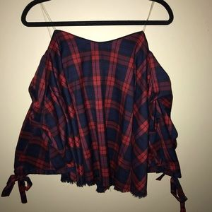Do + Be Plaid top